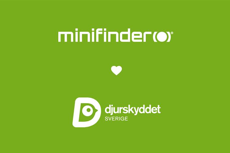 MiniFinder støtter den svenske dyrevelfærd (Djurskyddet Sverige)!